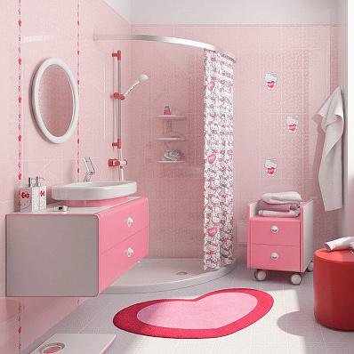 Pink bathroom decorating ideas