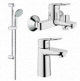 GROHE, Набор Смесителей Grohe Bau Loop Bath + Ks Bundle 123225K